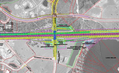 This is the recommended Diverging Diamond Interchange design for Daryl Carter Parkway at I-4, as of late August.