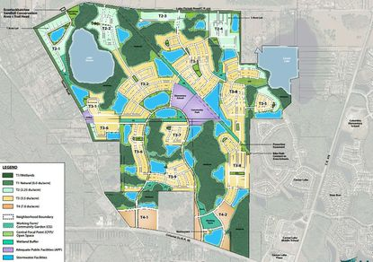 The Regulating Plan Map for The Grow development in east Orange County.