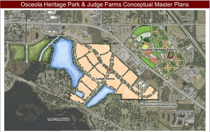 Osceola County officials are seekings letters of interest from design firms for the Judge Farms master planning contract.