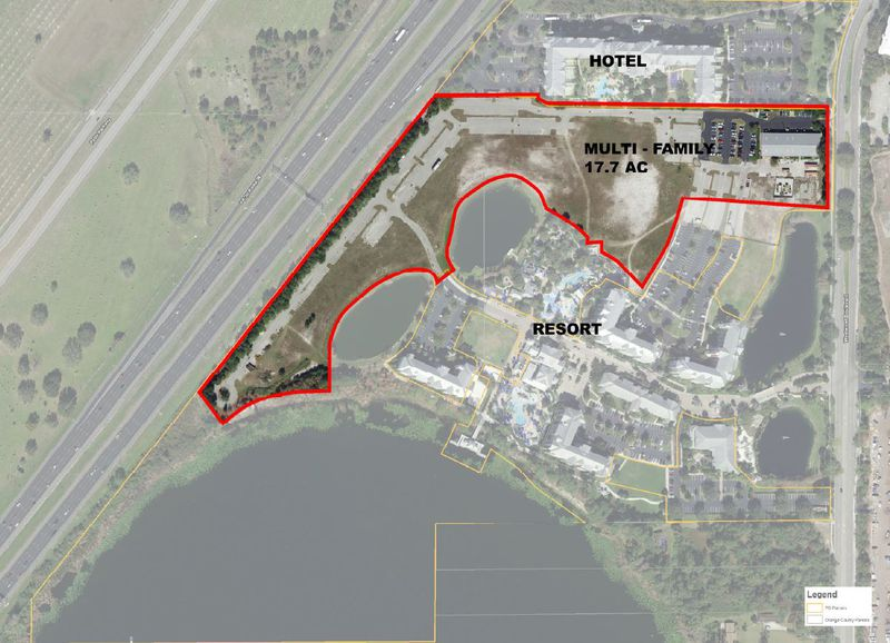 Crescent Communities is looking to entitle some 17.7 acres of land north of Marriott's Harbour Lake resort to accommodate up to 360 apartments.