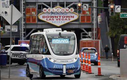 This week Las Vegas introduced the nation's first autonomous shuttle program to operate on public streets. The free, 11-passenger vehicle circulates on a half-mile loop in the city's entertainment district.