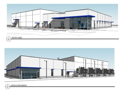 Rendering of a planned new code enforcement and records archive building, to be located at 202 Andes Ave., off of George Desalvia Way.