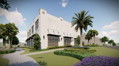 A rendering of the proposed HQ for Dackor, a manufacturer and distributor of design surface products.