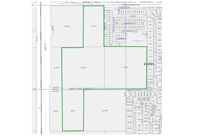 Highlighted in green are the nearly 20 acres where Elevation Development is considering building townhomes or build-to-rent homes. The property lies about a mile south of Posner Park mall, next to its Shoppes at Citrus Ridge retail development.