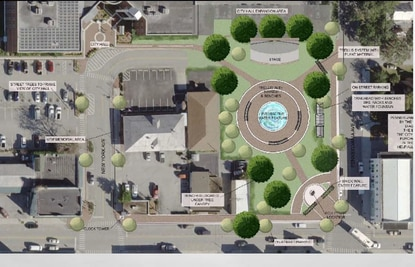 The City of St. Cloud is seeking $1 million from the state to help finance phase one of Centennial Park, which includes a central water feature and stage.