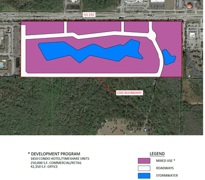 Magic Development has filed a preliminary site plan and applied to create a community development district to finance construction of the $1.7 billion resort on U.S. 192 in Kissimmee.