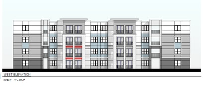 The developer wants to build two new apartment buildings like this and modernize the existing building from 1966.