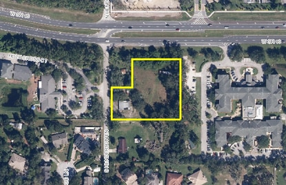 This aerial photo shows the proposed site for a private, early learning Goddard School. This will be the second Goddard school in Seminole County.
