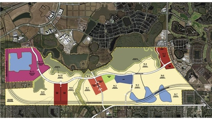 Tavistock Development Co. has filed an updated master plan that adds the Poitras West property to the approved Poitras East Planned Development.