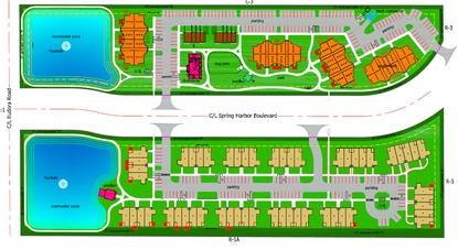 Atlantic Housing Partners won approval Tuesday night for a 154-unit multifamily community in Mount Dora that would have a mix of 3-story apartment buildings on the norther half and 1-story attached villas on the southern half.