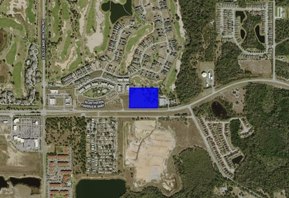 A developer in interested in building apartments on this 6.9-acre tract on the Osceola-Polk Line Road, just outside of Reunion.