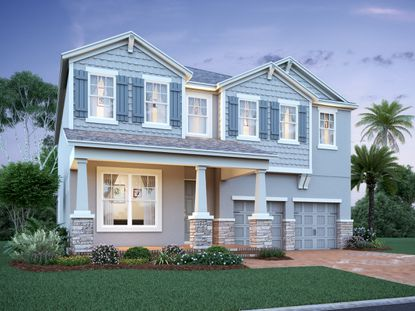 The flexible Newcastle model home gives the buyer the option of having a 3-car garage or a second master bedroom on the ground floor.
