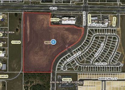 Construction on an apartment complex on these 25 acres of vacant land on S.R. 50 at Hartle Road in Clermont is scheduled to begin soon.