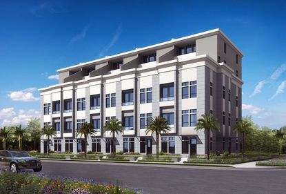 A rendering of the proposed Fountain Vu 5 townhomes in downtown Orlando on Broadway Avenue.