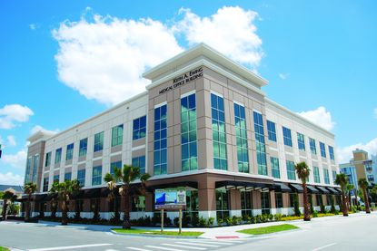 Located at 3701 Avalon Park West Blvd. in Orlando, the 1.2-acre property features this three-story Keith A. Ewing Medical Office Building with 47,000 square feet of leasable area.