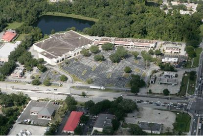 Aerial of the City Center shopping plaza in Oviedo, located at W. Mitchell Hammock Road and Alafaya Trail, which will be redeveloped and expanded in the coming months.
