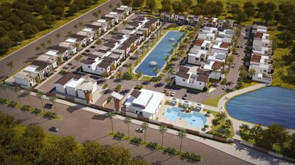 Villa Domani is a proposed 62-home vacation rental community. Developer Lucia Camara is looking to sell her shares in the $24 million project to focus on other developments.
