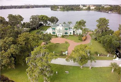 A view of the lakefront home and property on Genius Drive recently acquired.