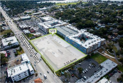 An aerial view of the 2.55 acre site that sold at 1724 N. Mills Avenue.