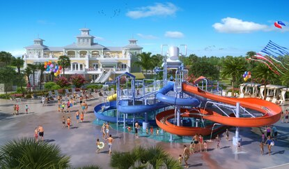 Encore is building a new waterslide park as part of an $18 million investment in Kissimmee's Reunion Resort.