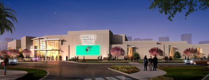 New rendering of the exterior profile of a new Orlando Ballet headquarters and school building on Lake Formosa, in downtown Orlando.