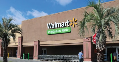 A photo of the Walmart at the Shoppes of South Semoran retail center in Orange County.