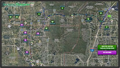 The area Wekiva Parkway will span