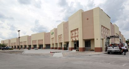 Renovation of the Orlando Crossings shopping complex is among the improvements along International Drive, as of mid-April.