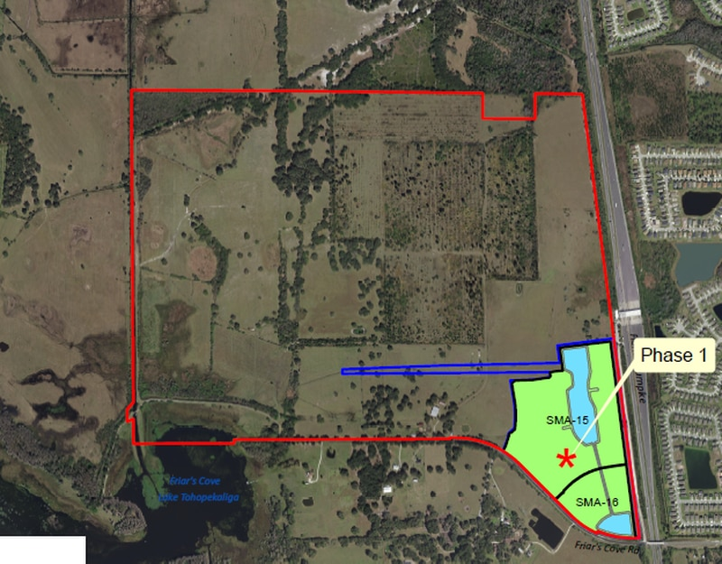 Master developer Jeff Fuqua has applied for mass grading permits for Fontana Lakes. Records show D.R. Horton is linked to Phase 1.