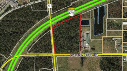 The 18-acre site is located on the northeast corner of Ocoee-Apopka Road and Fullers Cross Road, just south of S.R. 429.