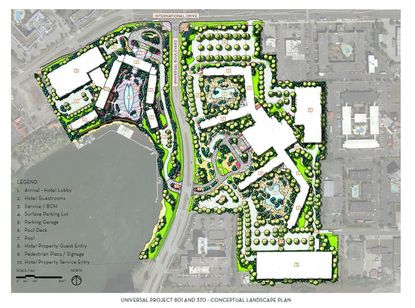 Universal files more detailed PD plans for I-Drive property, shows hotel towers