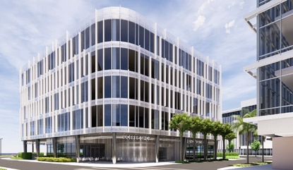 The new 70,000-square-foot office building in Lake Nona Town Center would feature a bank and cafe on the ground floor.