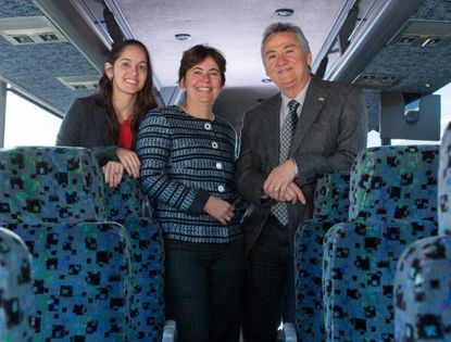 From right to left, Pegasus Transportation owners Fernando Menezes and Claudia Menezes, along with their daughter Fernanda Vanetta, the company's chief financial officer.