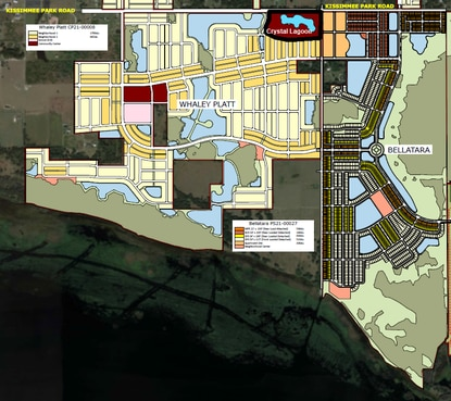 A Crystal Lagoon would anchor the 20.5-acre community center on Kissimmee Park Road. It's proposed as part of the first phase of the mixed-use Whaley Platt community.